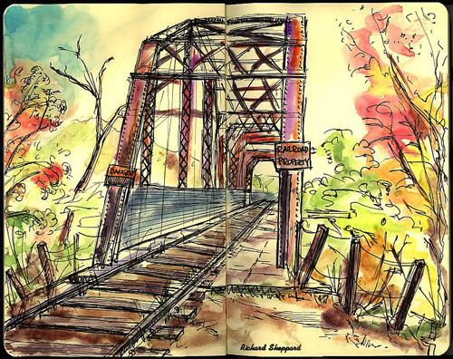 Healdsburga S Railroad Bridge The Artist On The Road