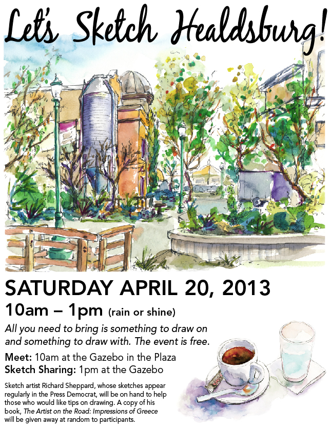 Let's sketch Healdsburg